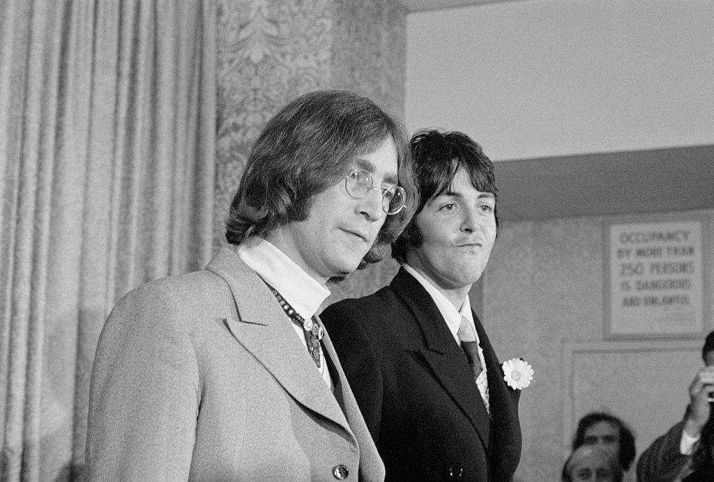 Lennon and McCartney announcing Apples Corps