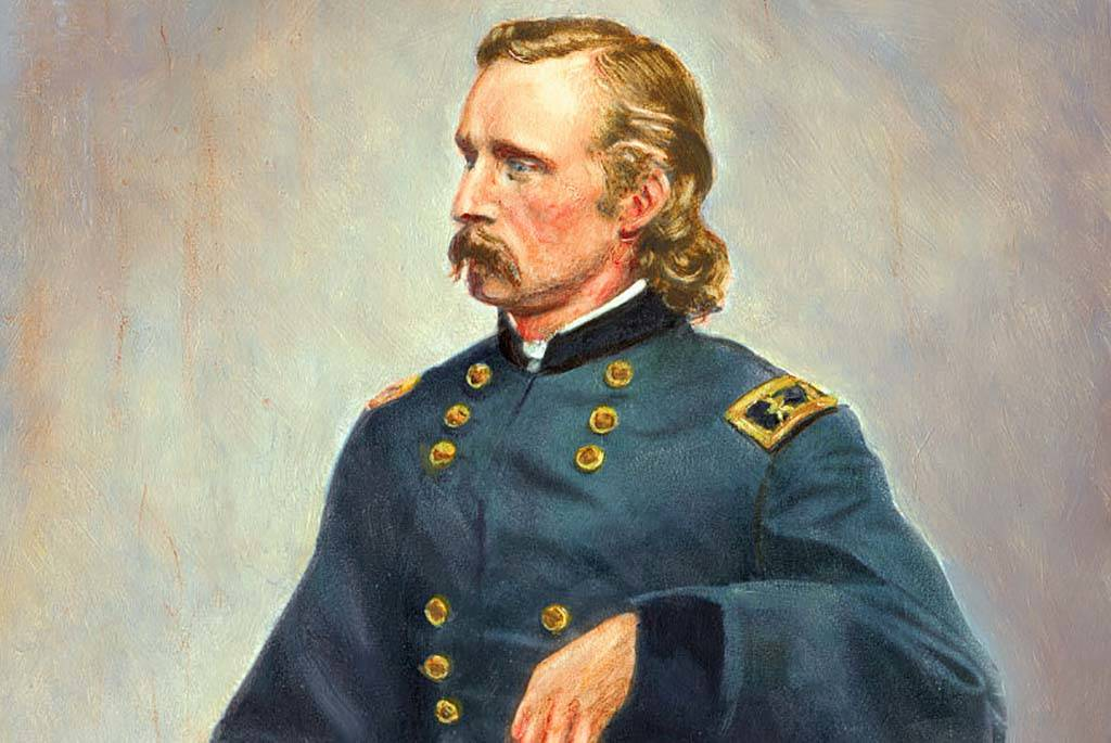 Painting of Custer