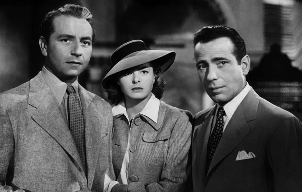 Humphry Bogart, Ingrid Bergman, and Paul Henreid