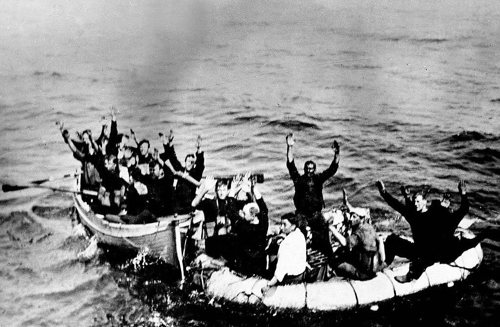 Men in lifeboats