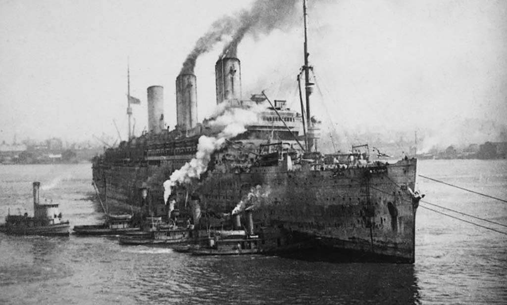 Massive WWI ship