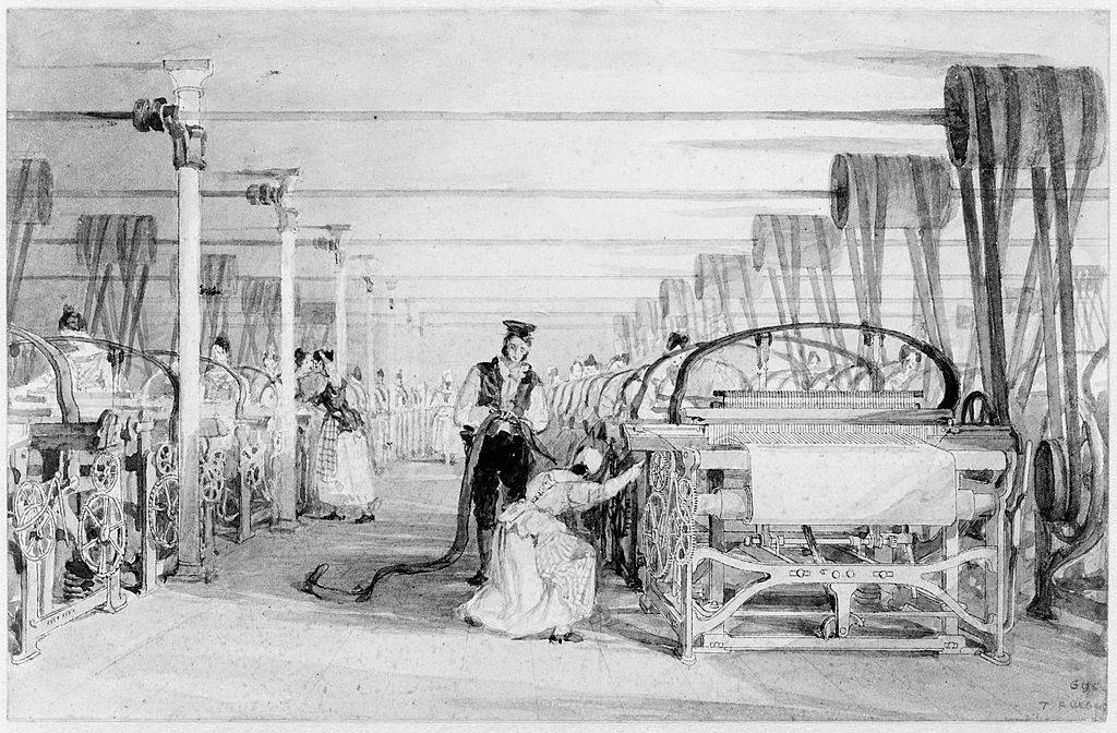 Workers in the mill