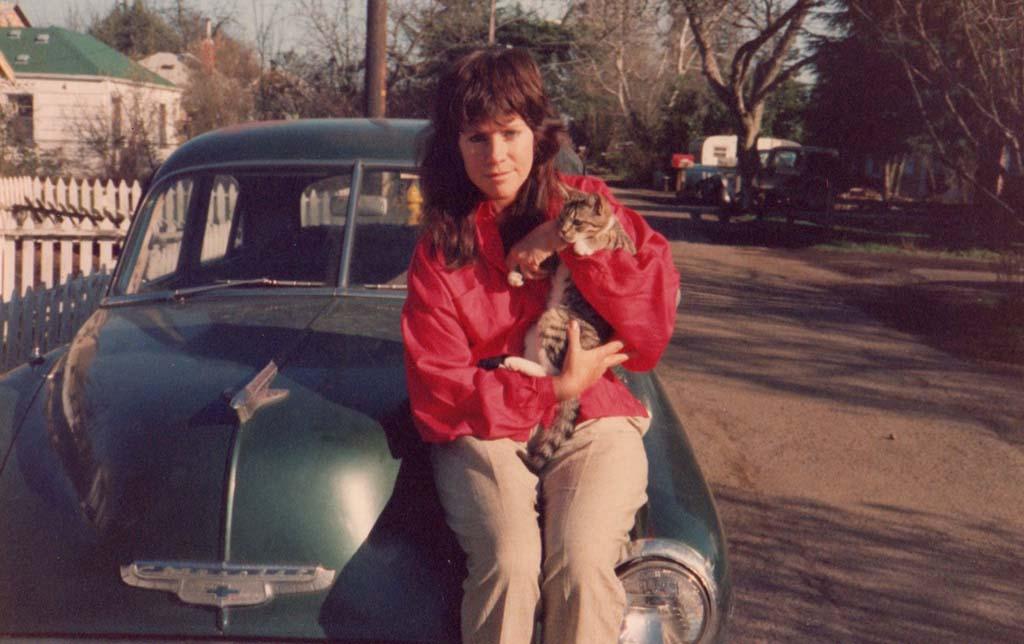 Jan Kerouac with cat