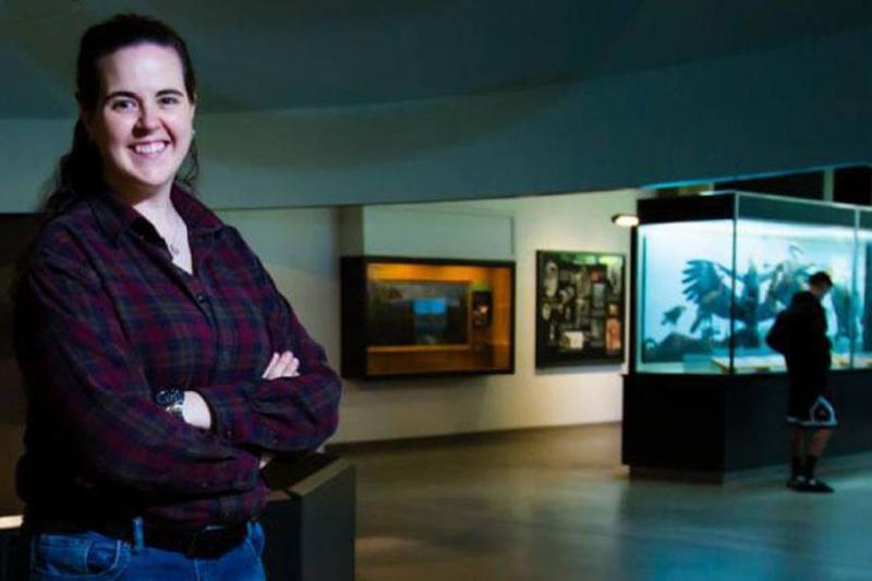 Paleontologist Ashley Leger