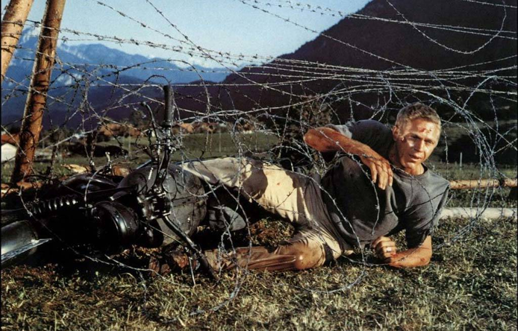 McQueen in barbed wire