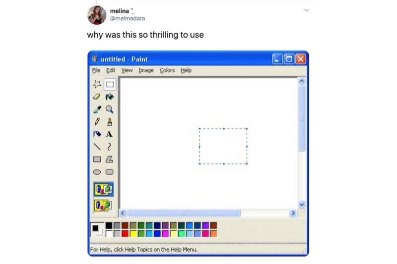 a picture of Microsoft Paint