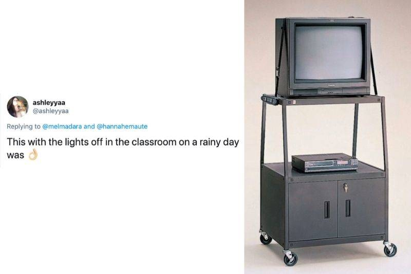 Tweet: This with the lights off in the classroom on a rainy day was awesome