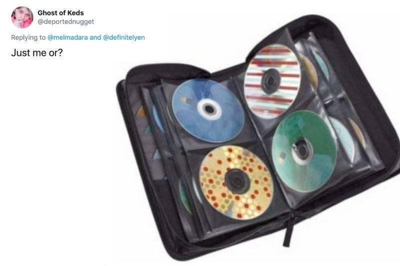 a CD flip book