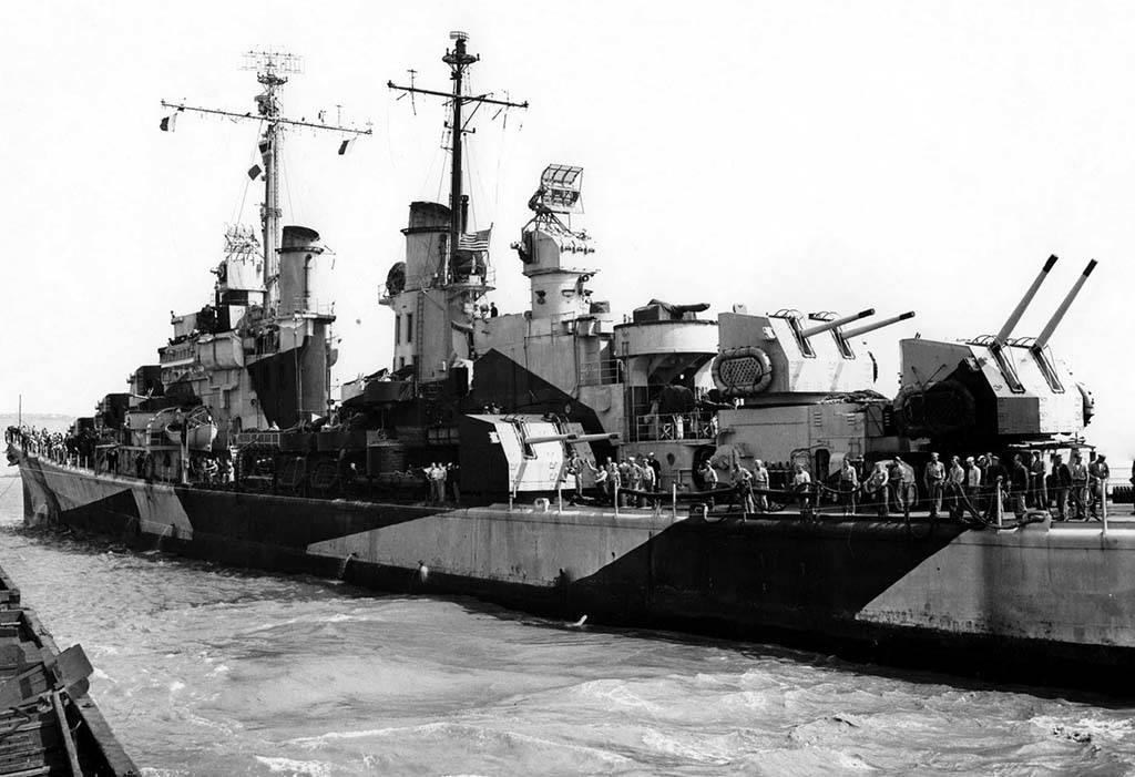 Port side of the USS San Diego