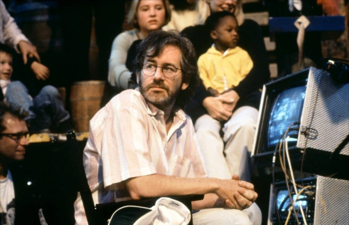 Spielberg in a chair