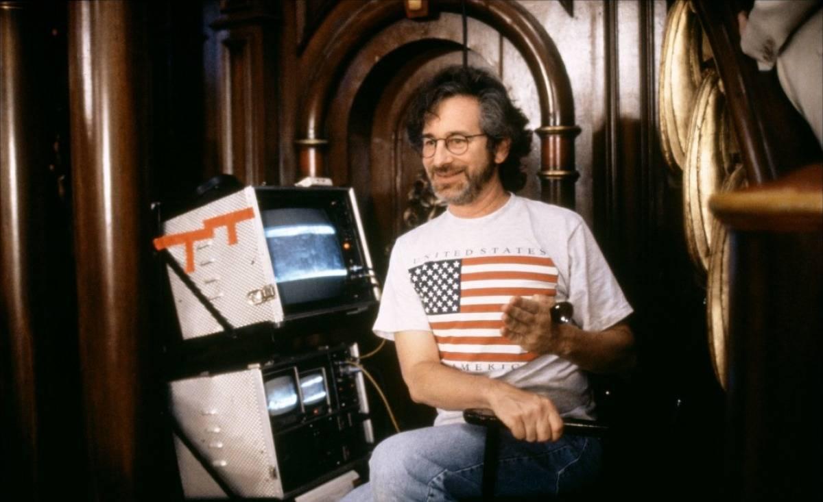 Spielberg on set