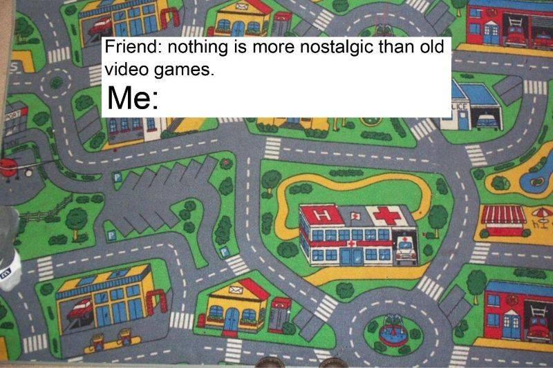 nostalgia inducing road carpet from school