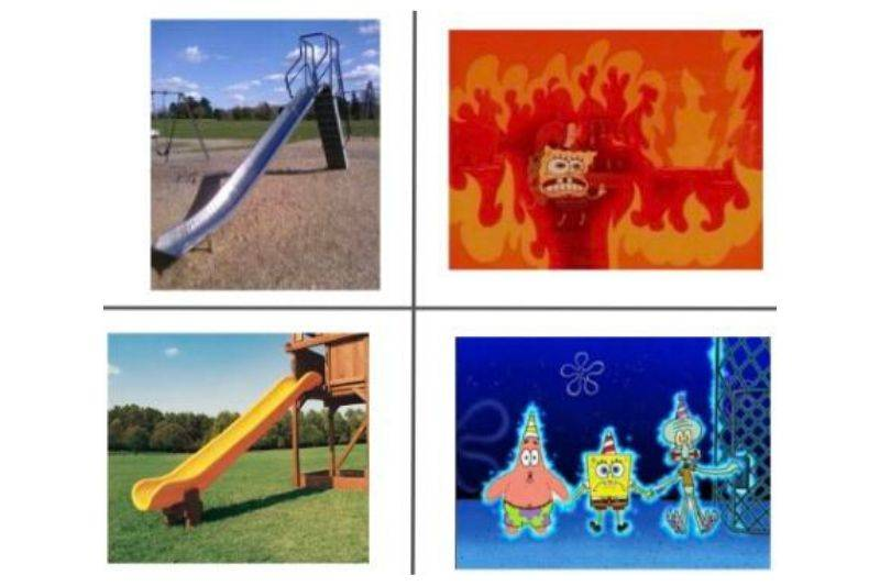 parts of the playground that burn you