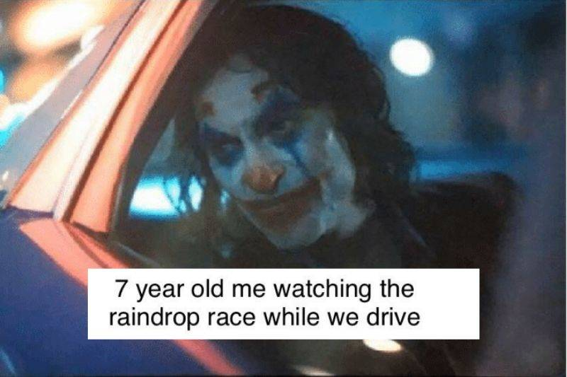 raindrop race while driving