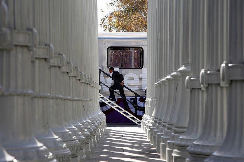 Los Angeles transportation officials formally broke ground Friday