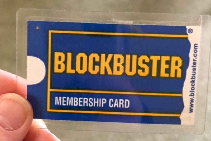 An old Blockbuster membership card