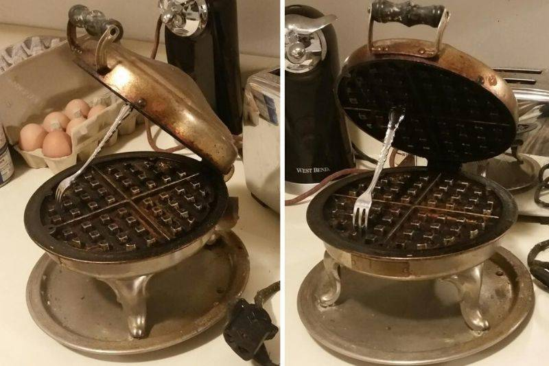 a waffle maker thats from the 1958
