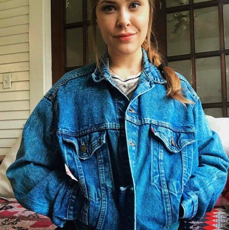 a vintage levi's jacket from the 80s