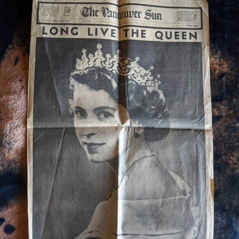 the newspaper from the day of the queens corination