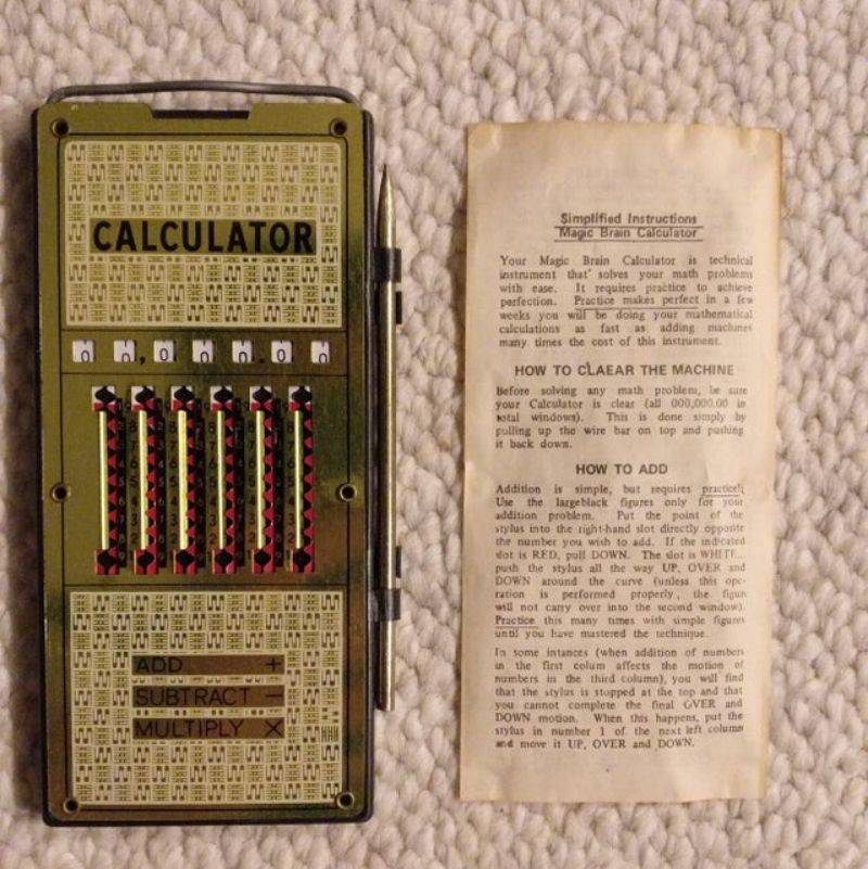 an old school calculator