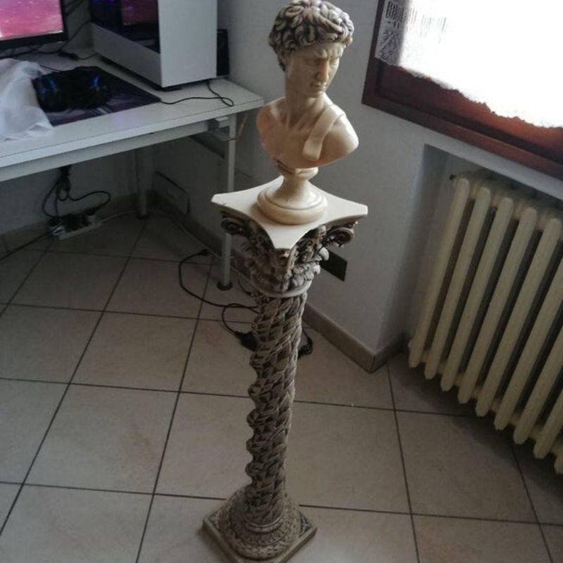 a statue found in a grandparent's basement