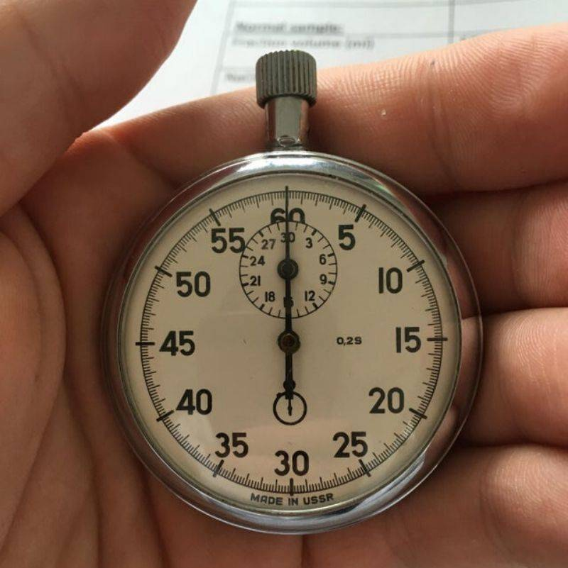 a stopwatch from someone's grandpa