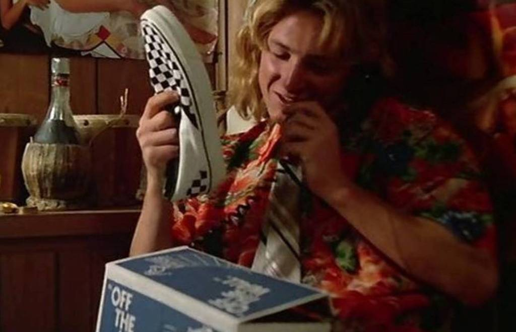 Spicoli with a new pair of shoes