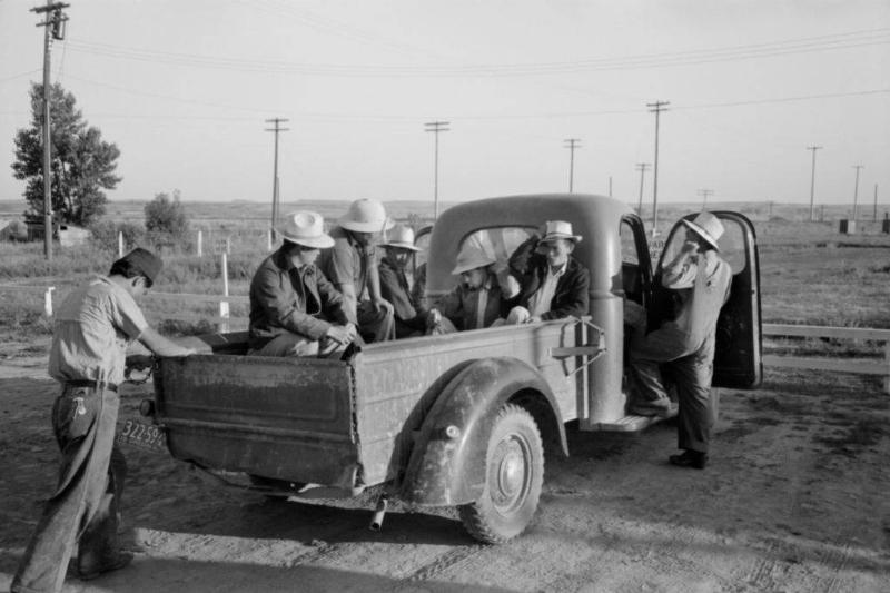 Men in a truck bed