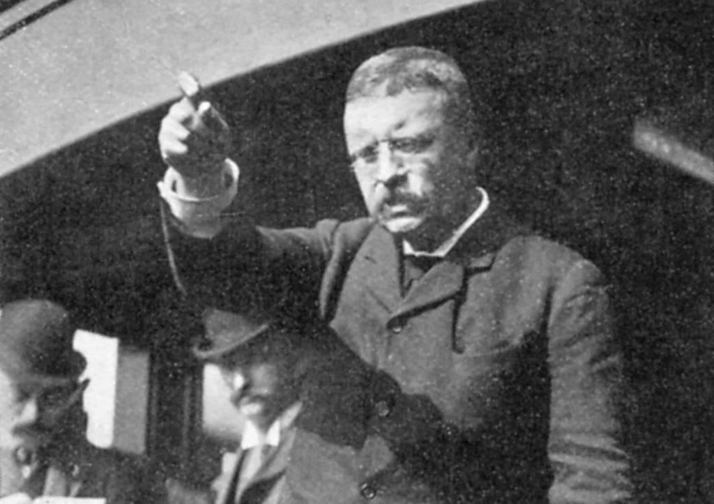 Roosevelt giving a speech