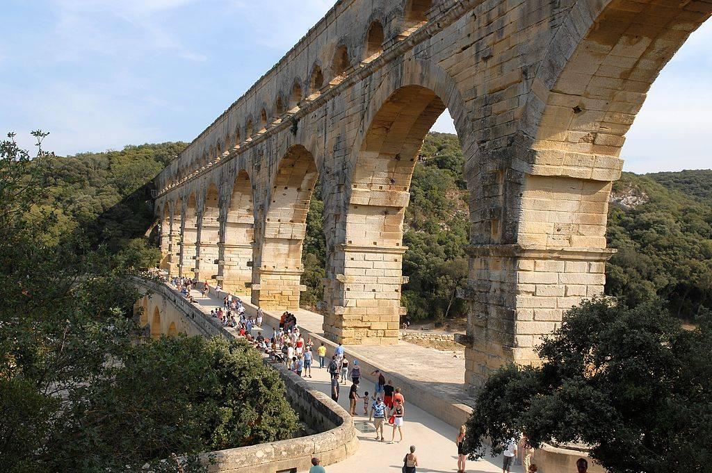 Roman water aqueduct