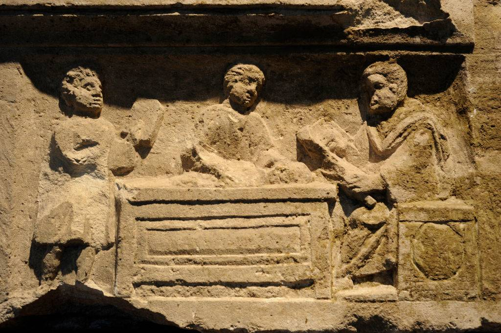 Relief on a Roman tomb