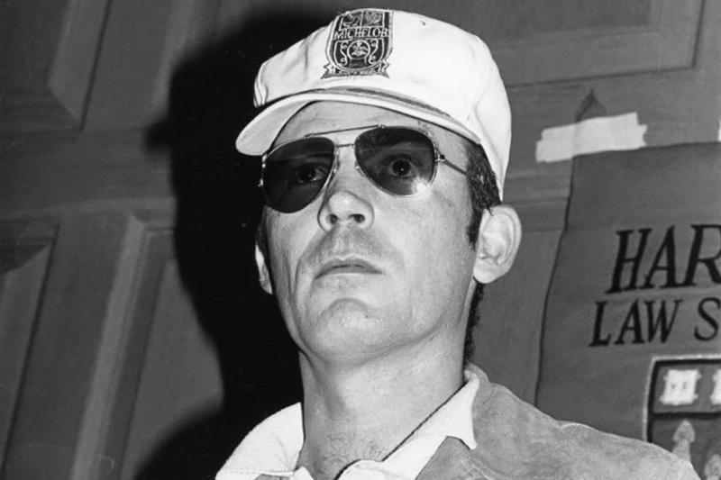 Thompson wearing sunglasses