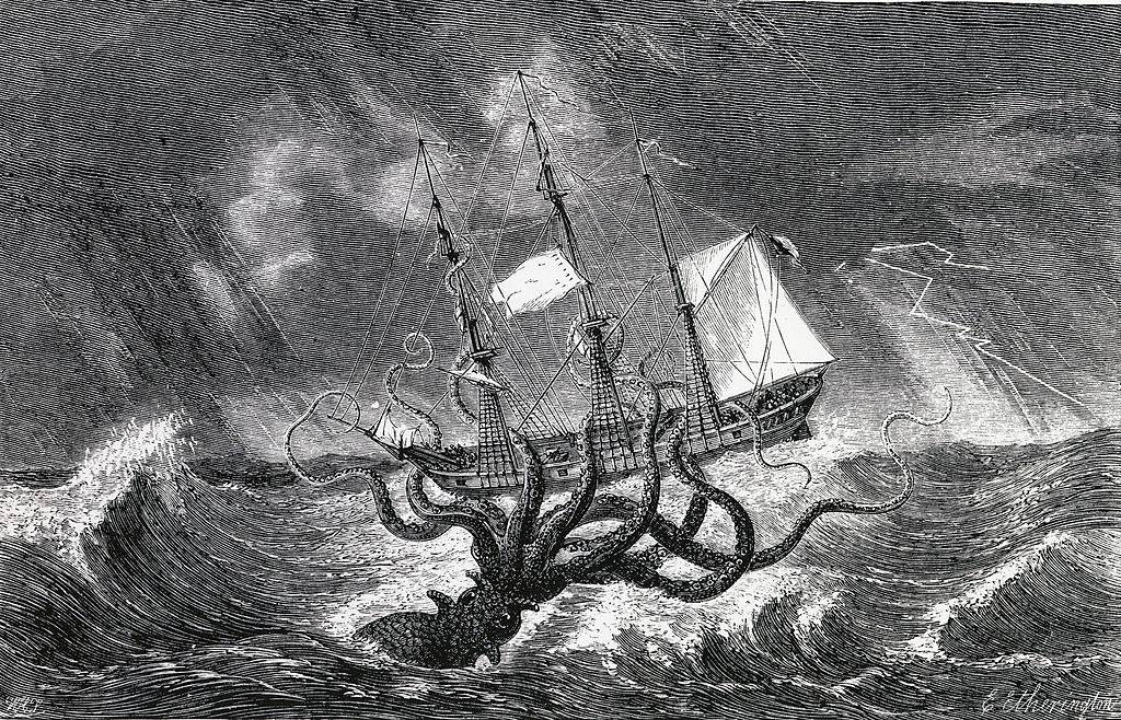 Drawing of a kraken
