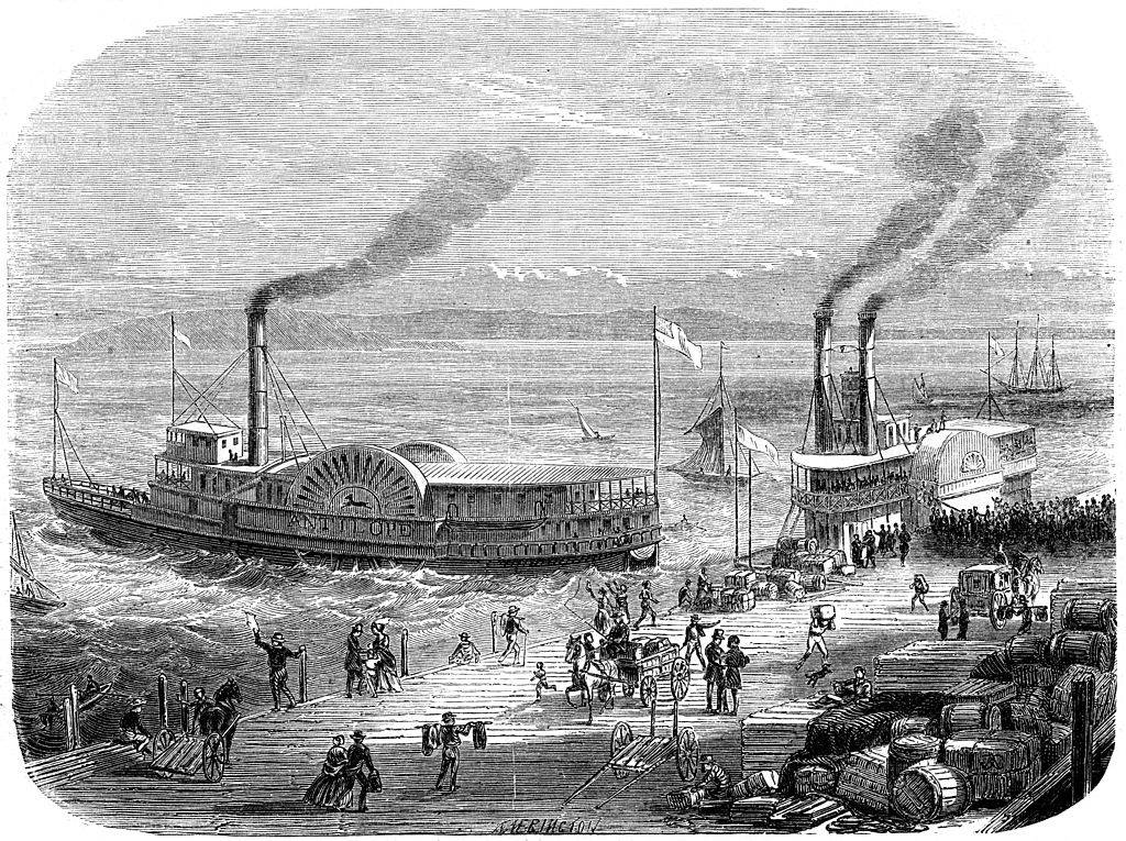 Steamship in San Francisco