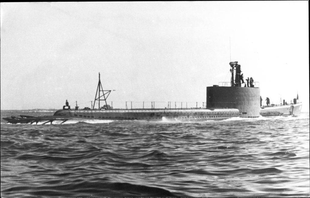 Submarine on the water