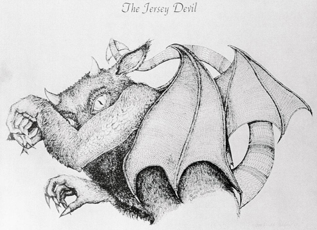 Drawing of the Jersey Devil
