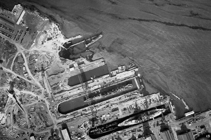 Aerial of Pearl Harbor