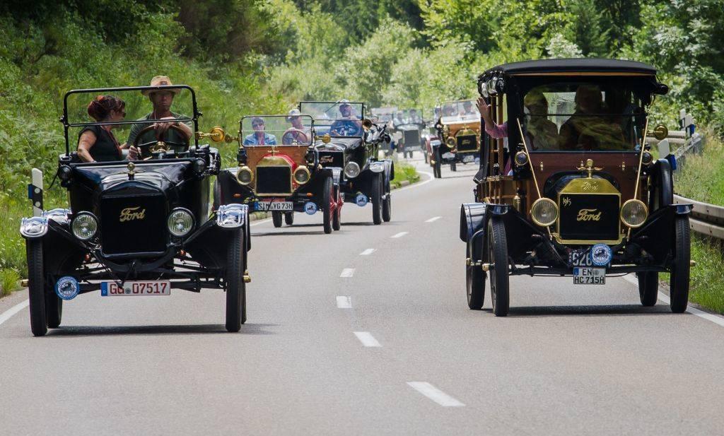 Fleet of Model Ts