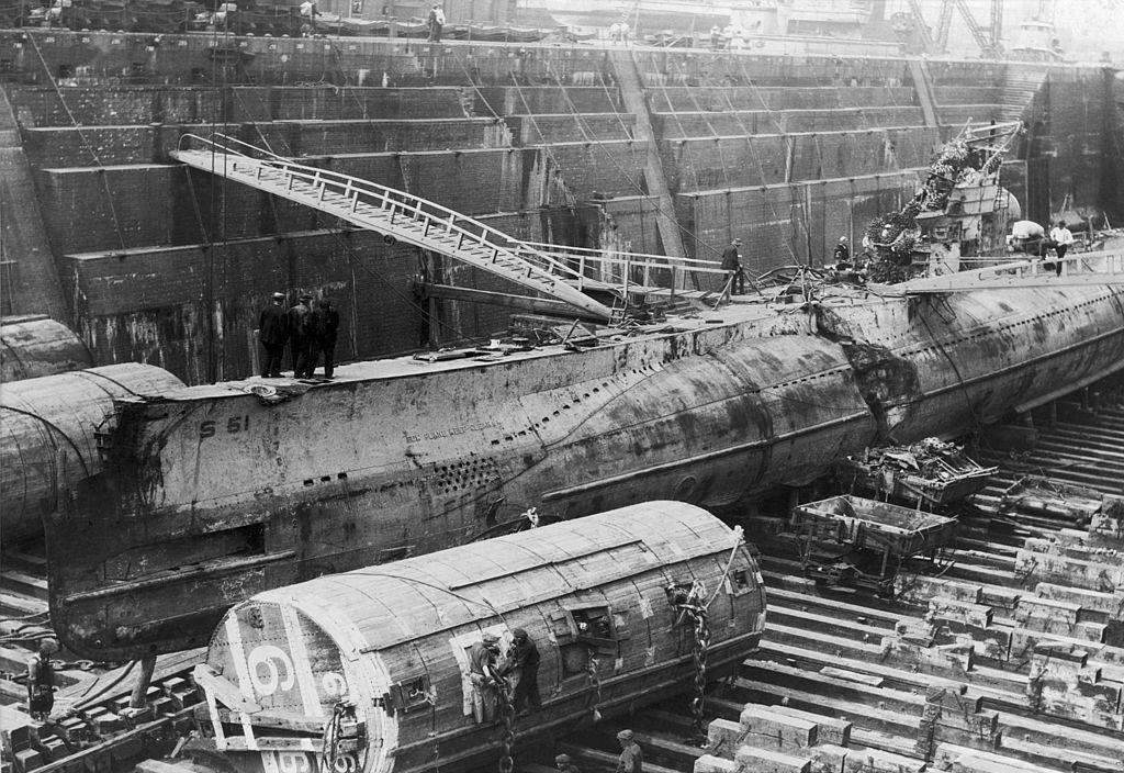 Submarine in the yard