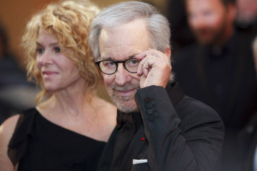 Steven Spielberg with glasses