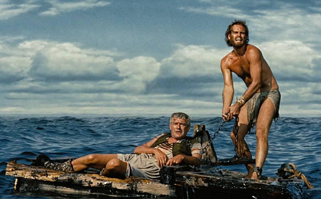 Men on a raft