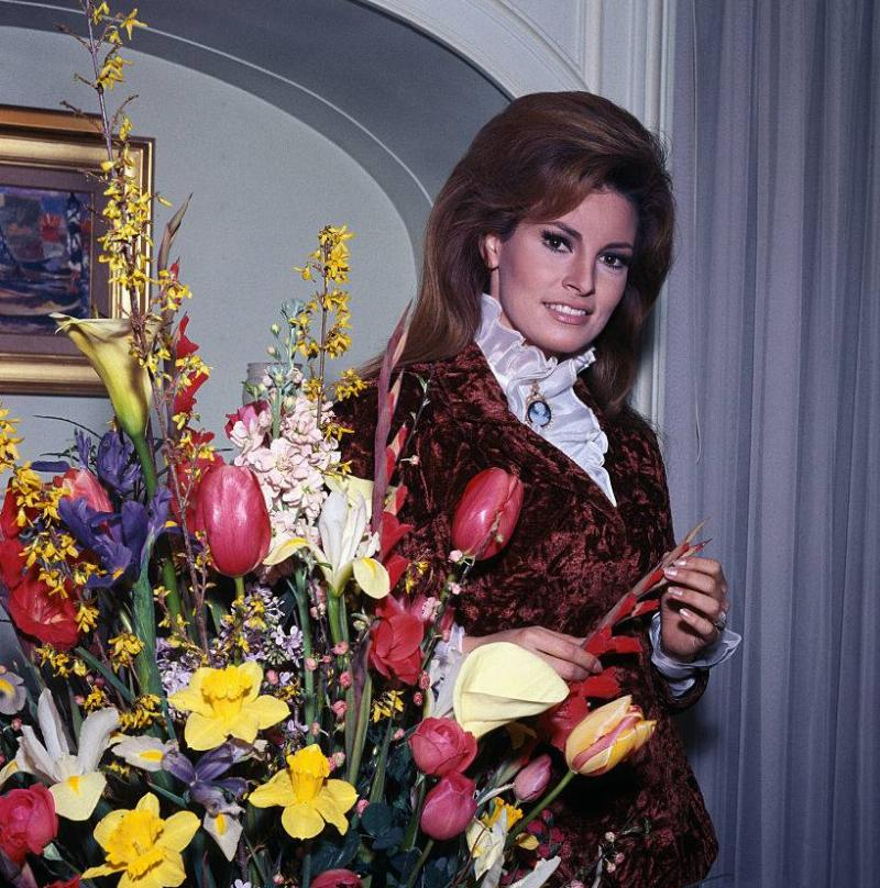 American acterss Raquel Welch...fast becoming considered the film star with the mostest