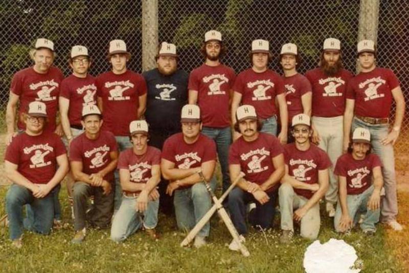 Men on a baseball team