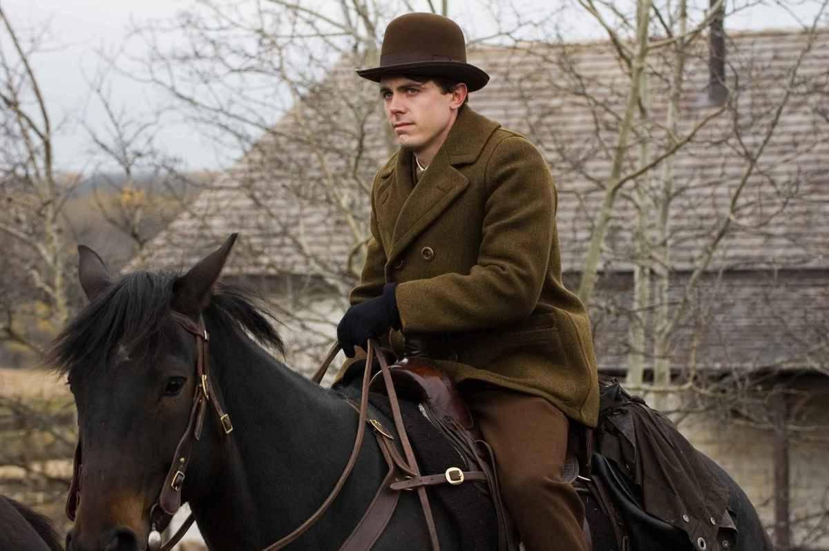 Casey Affleck on a horse
