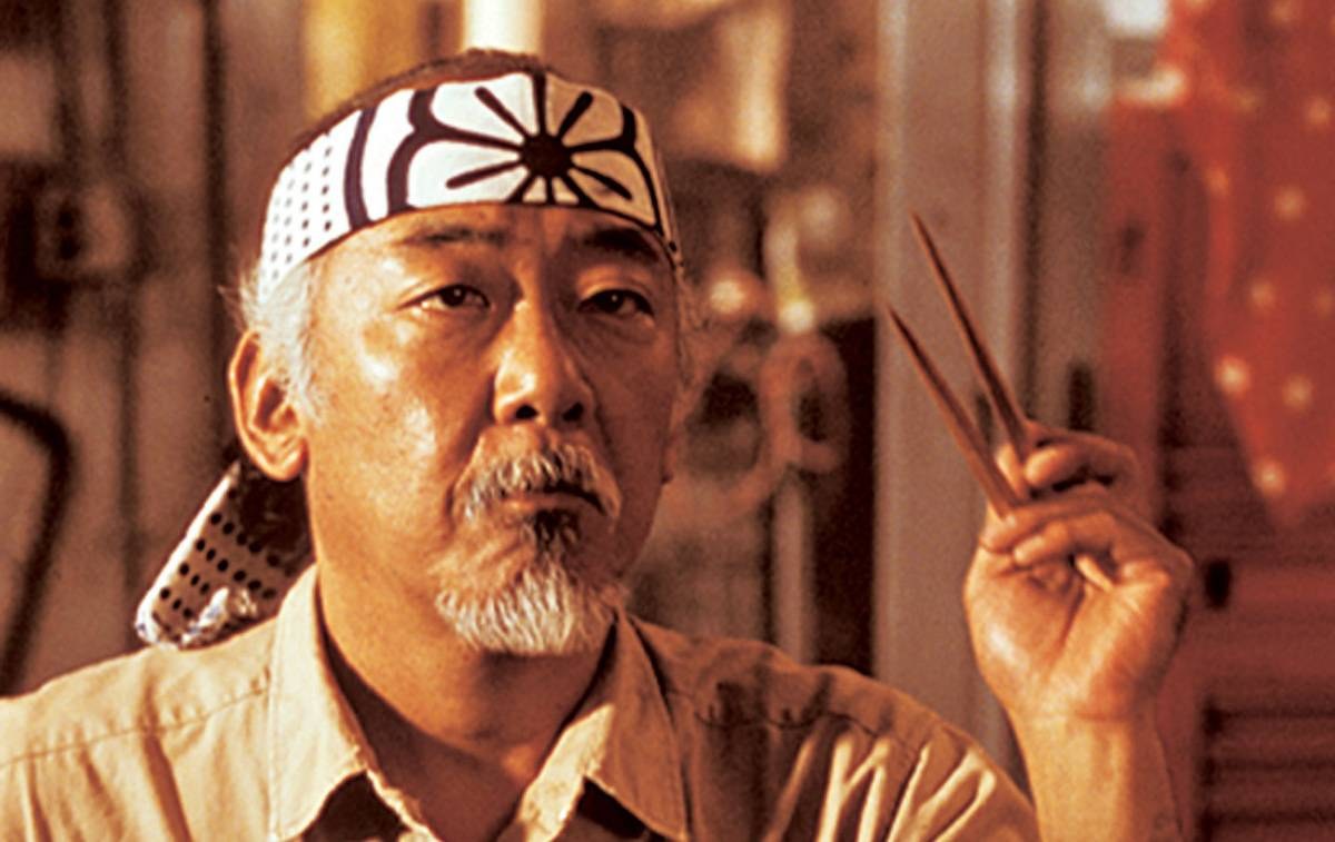 Morita as Mr. Miyagi