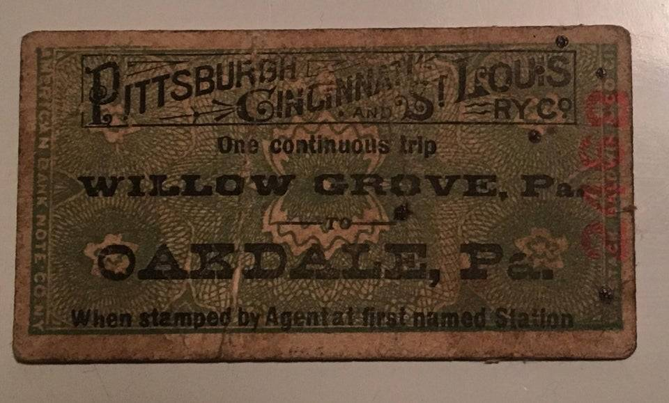 an old railway ticket from 1890