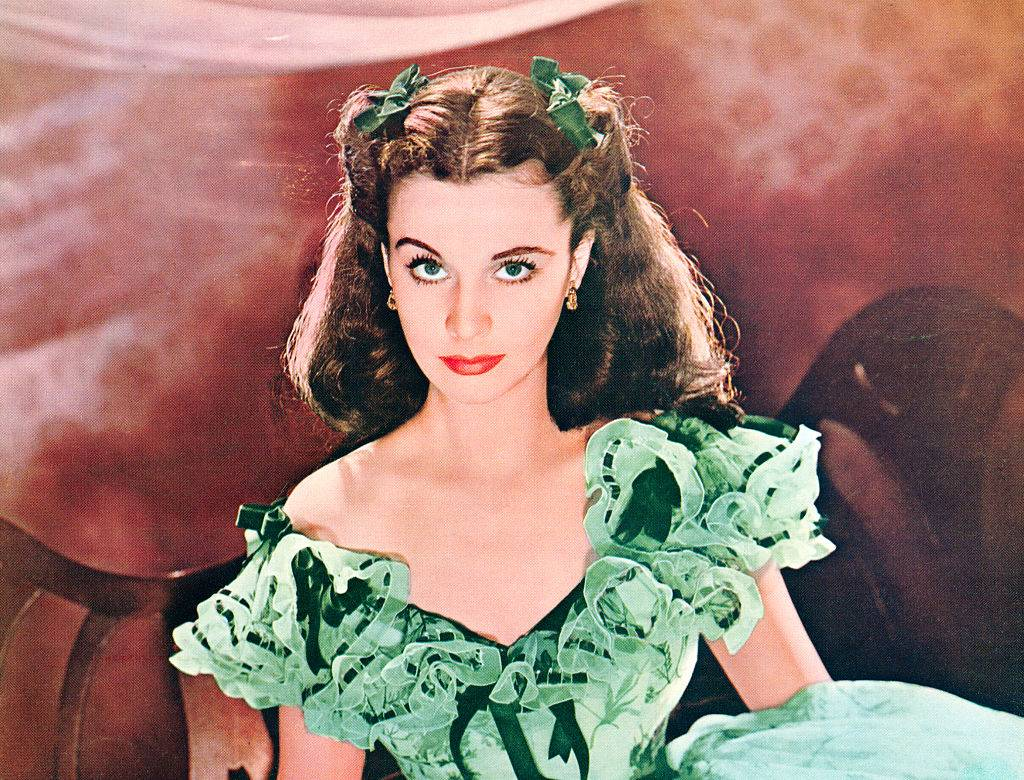 vivien leigh in a green dress