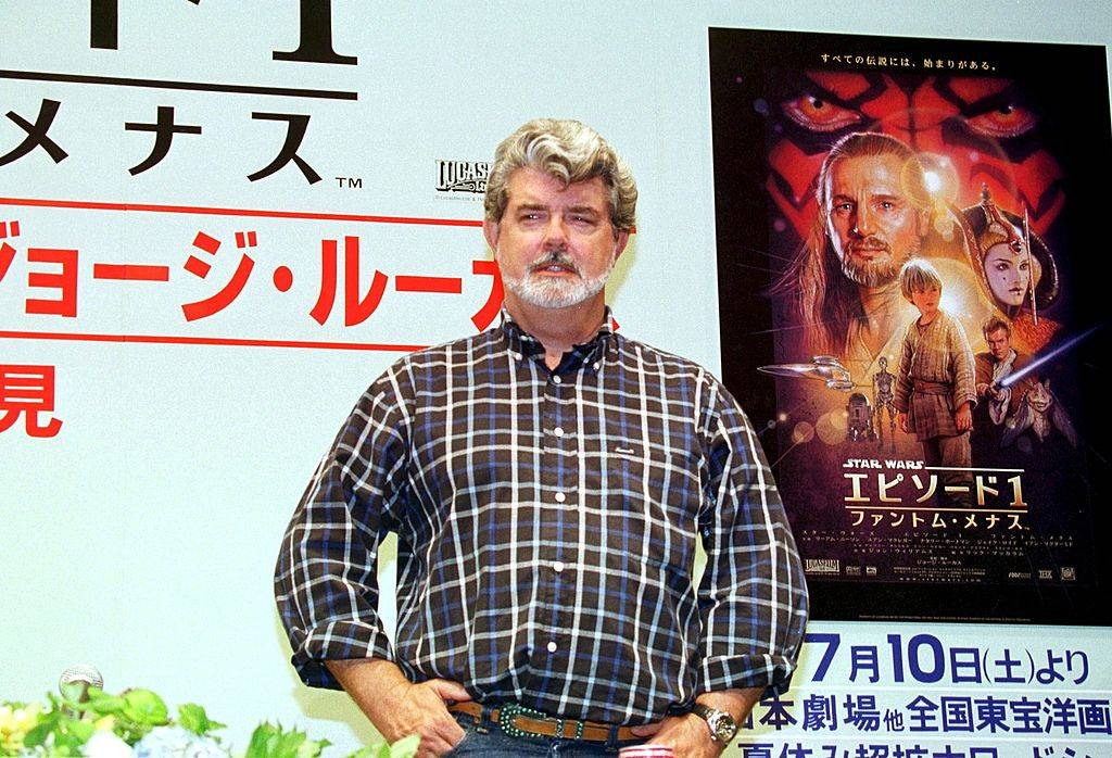 George Lucas promoting the Phantom Menace