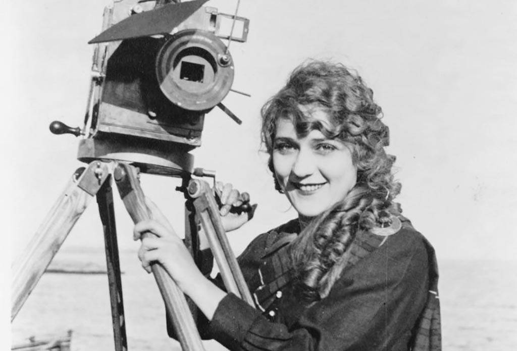 Mary Pickford with a camera