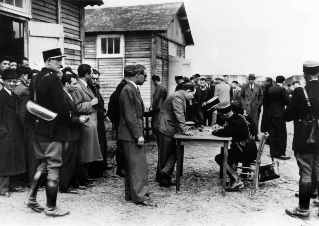 Prisoners being registered